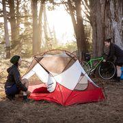bike touring camping