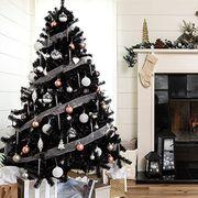 Hearth, Christmas decoration, Christmas tree, Fireplace, Christmas, Christmas stocking, Room, Tree, Home, Living room,