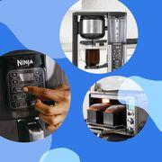 kitchenaid mixer, ninja air fryer, brevill toaster oven, ninja coffee maker, le creuset dutch oven