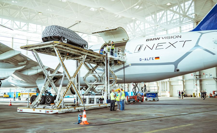 Here's How BMW Built a Concept-Car Display Inside a Boeing 777 and Flew It around the World