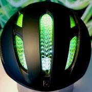 Helmet, Green, Motorcycle helmet, Personal protective equipment, Bicycles--Equipment and supplies, Bicycle helmet, Leaf, Headgear, Grass, Plant,