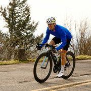 spring 2019 portland blue long sleeve jersey cyclist uphill