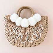 bridalshowergiftideas straw purse