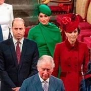 prince william, kate middleton, meghan markle, and prince harry during the sussexes' last event as working royals