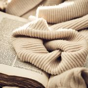 sweater on a book
