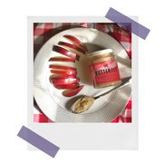 butterfly nut butter with sliced apples