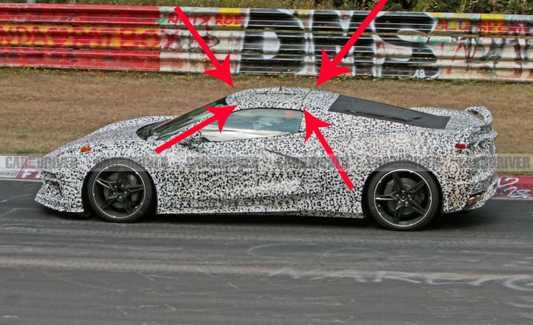 It Looks Like the Mid-Engined Corvette Gets a Removable Targa Roof