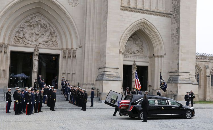 President George H.W. Bush's Funeral Involves a Cadillac XTS Hearse and a Special Union Pacific Train