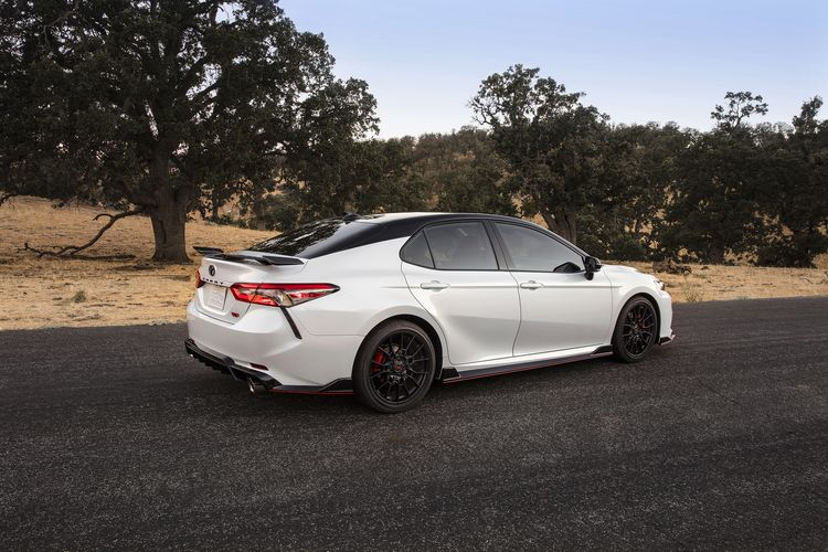 The 2020 Toyota Camry TRD Has Red Seatbelts and the Chassis Mods to Back Them Up
