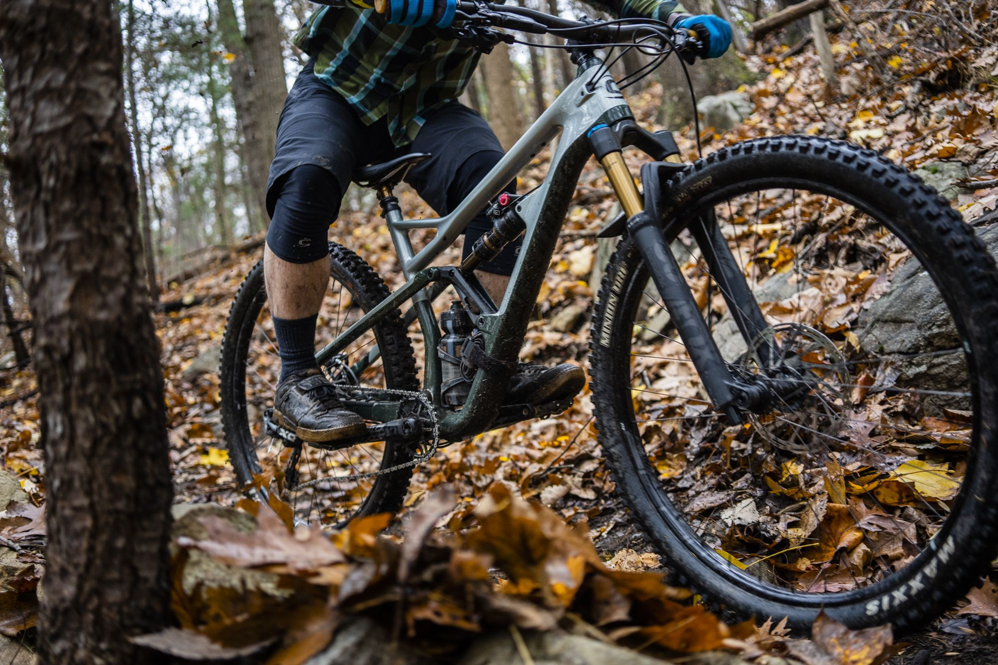 A dropper post allows you to lower your center of gravity and sit back as the trails get steep.