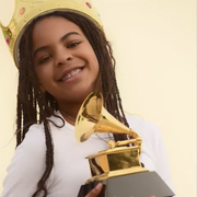 blue ivy carter with her grammy
