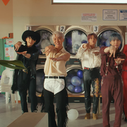 bts in their permission to dance music video