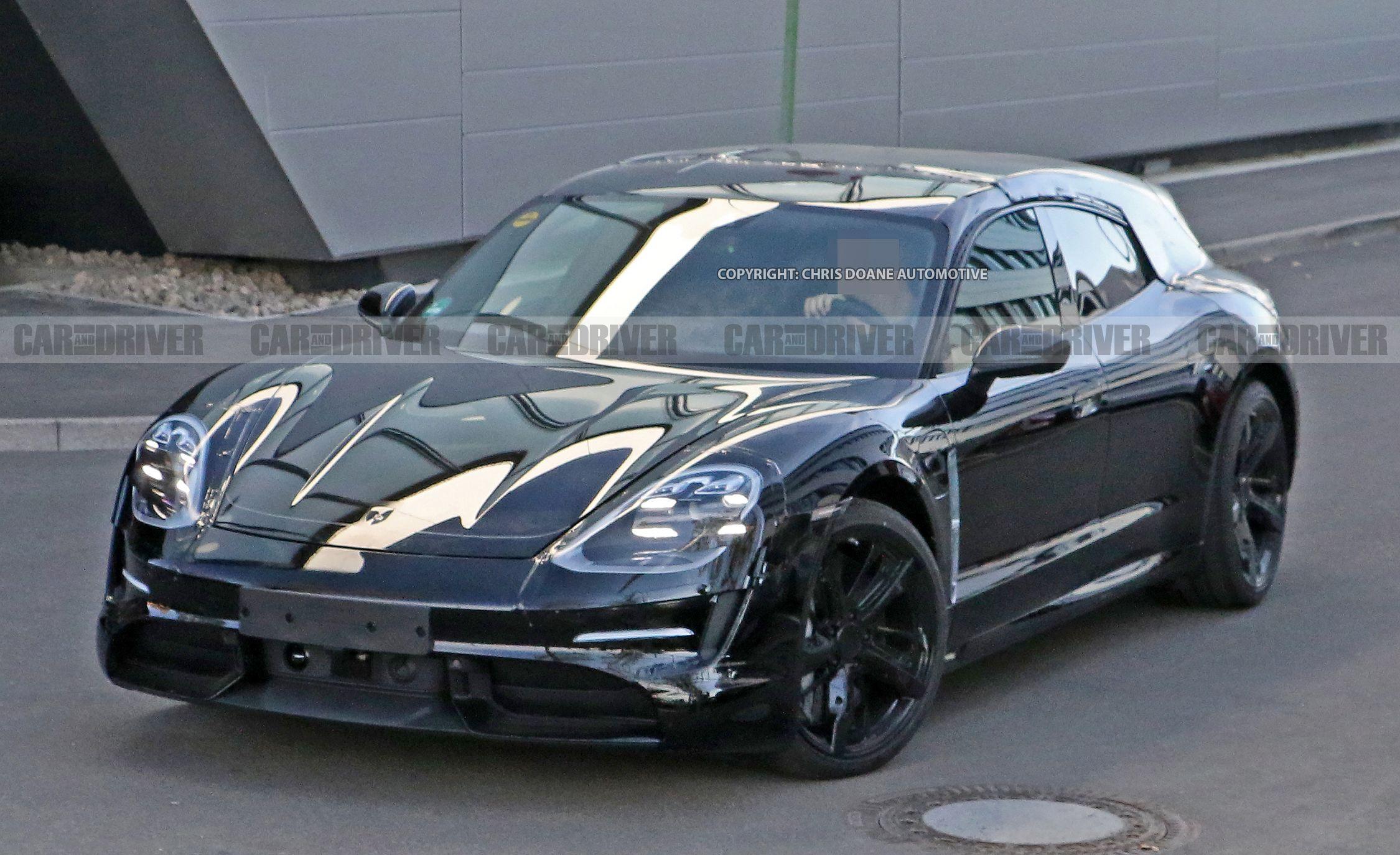 2020 Porsche Taycan Sport Turismo Wagon Spied