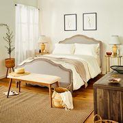 Bedroom, Bed, Furniture, Room, Bed sheet, Bed frame, Bedding, Interior design, Nightstand, Floor,
