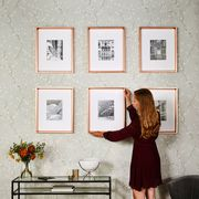 Furniture, Wall, Room, Table, Interior design, Wallpaper, Window, Dress, Photography, Wood,