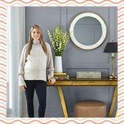 Mirror, Room, Interior design, Furniture, Curtain, Table, Interior design, Circle,