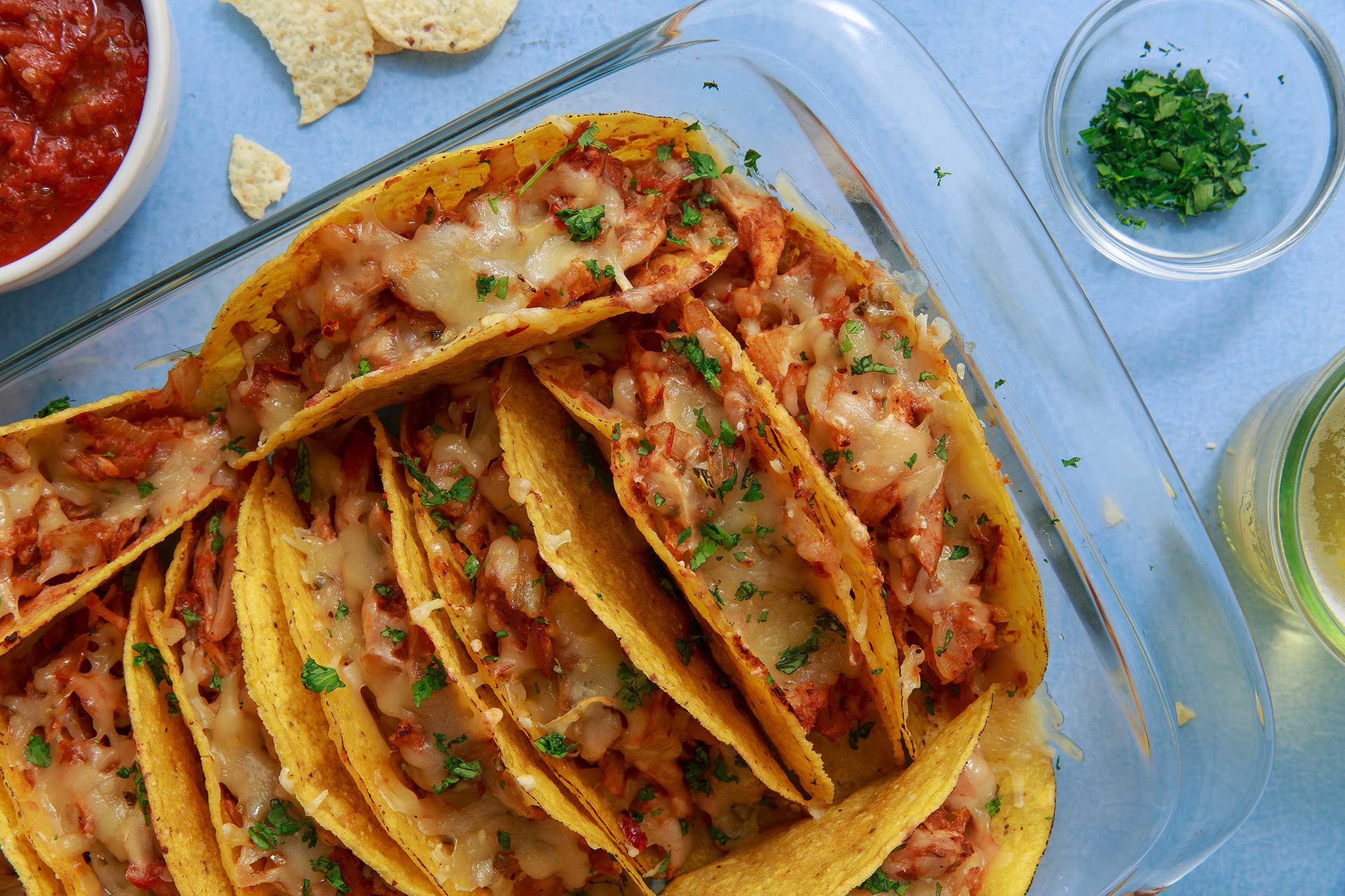 Cheesy Chicken Tacos