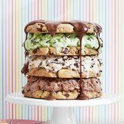 chocolate chip triple decker ice cream cake