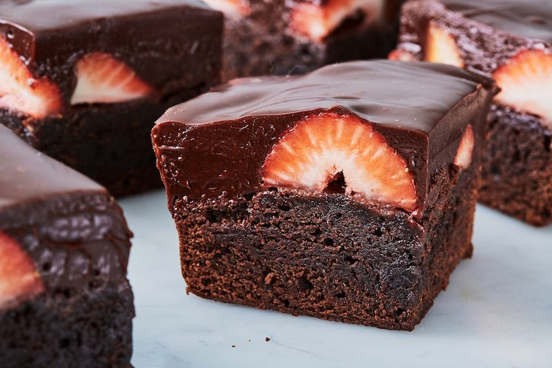 Best Chocolate Covered Strawberry Brownies Recipe How To Make Chocolate Covered Strawberry Brownies