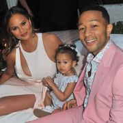 Chrissy Teigen, John Legend, and daughter Luna at Airbnb Concerts - John Legend Summer of LVE