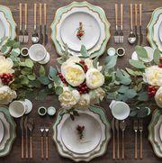 Dishware, Tableware, Porcelain, Room, Flower, Table, Plate, Design, Plant, Dining room,