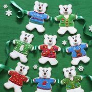 christmas cookies polar bear sugar cookies