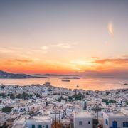 cityscape of mykonos, greece