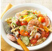 Dish, Food, Cuisine, Pasta salad, Salad, Ingredient, Vegetable, Rotini, Pasta, Produce,