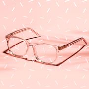 glasses usa computer blue blocking glasses on pink backdrop