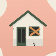 Property, House, Illustration, Home, Roof, Real estate, Building, Facade, Art, Peach,