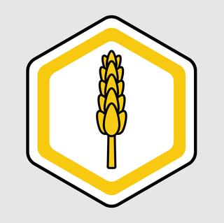 Yellow, Sign, Signage, Line, Crest, Logo, Traffic sign, Symbol, Graphics, Emblem,