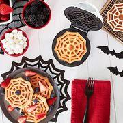 dash spiderweb halloween mini waffle maker
