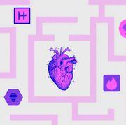 Violet, Purple, Pink, Text, Magenta, Line, Pattern, Font, Design, Heart,