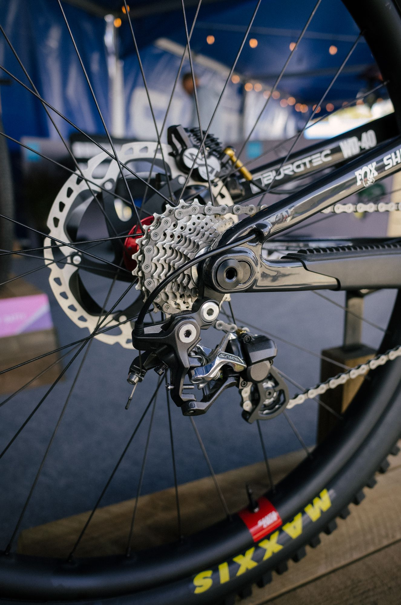 Greg Minnaars bike race bike is only meant to go fast downhill.