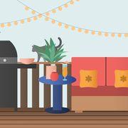 Cartoon, Wall, Illustration, Flowerpot, Tree, Plant, Room, Animation, Art, House,