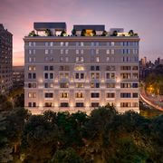 Property, Architecture, Facade, Building, Real estate, Landmark, Mixed-use, Commercial building, Apartment, Dusk,