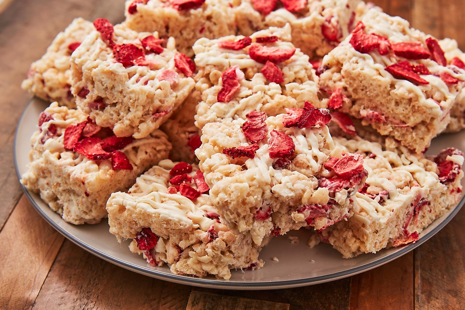 Strawberry Shortcake Rice Krispies Treats