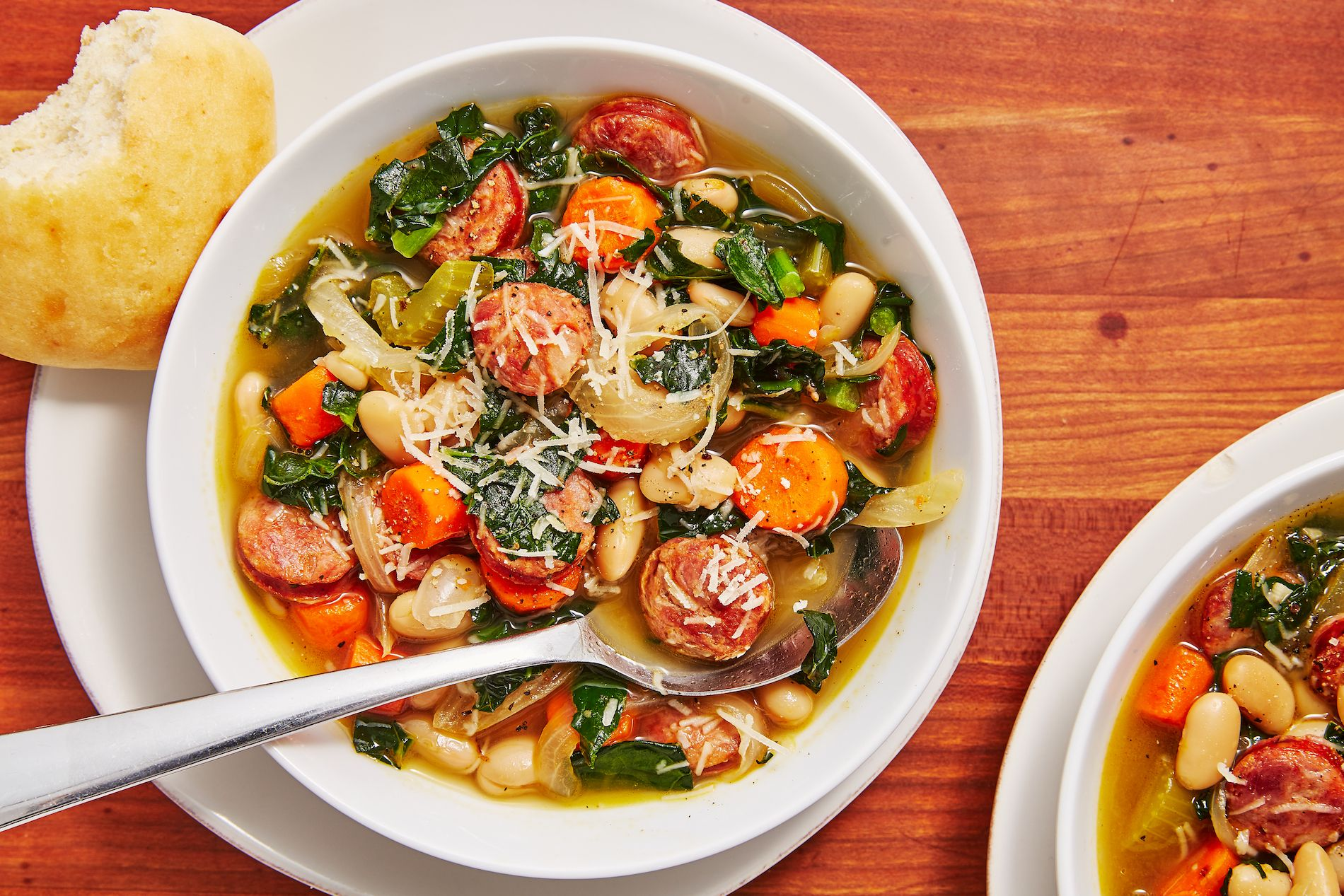 Slow-Cooker Sausage and White Bean Soup