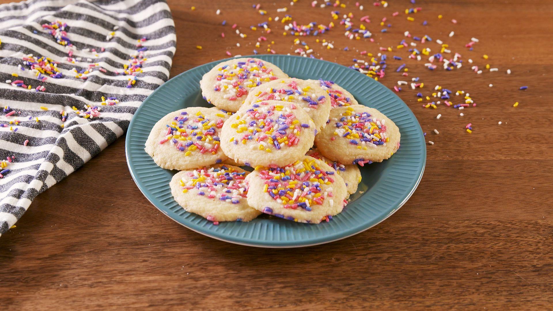 3 Ingredient Sugar Cookies Recipe Easy Eggless Sugar Cookies Recipe