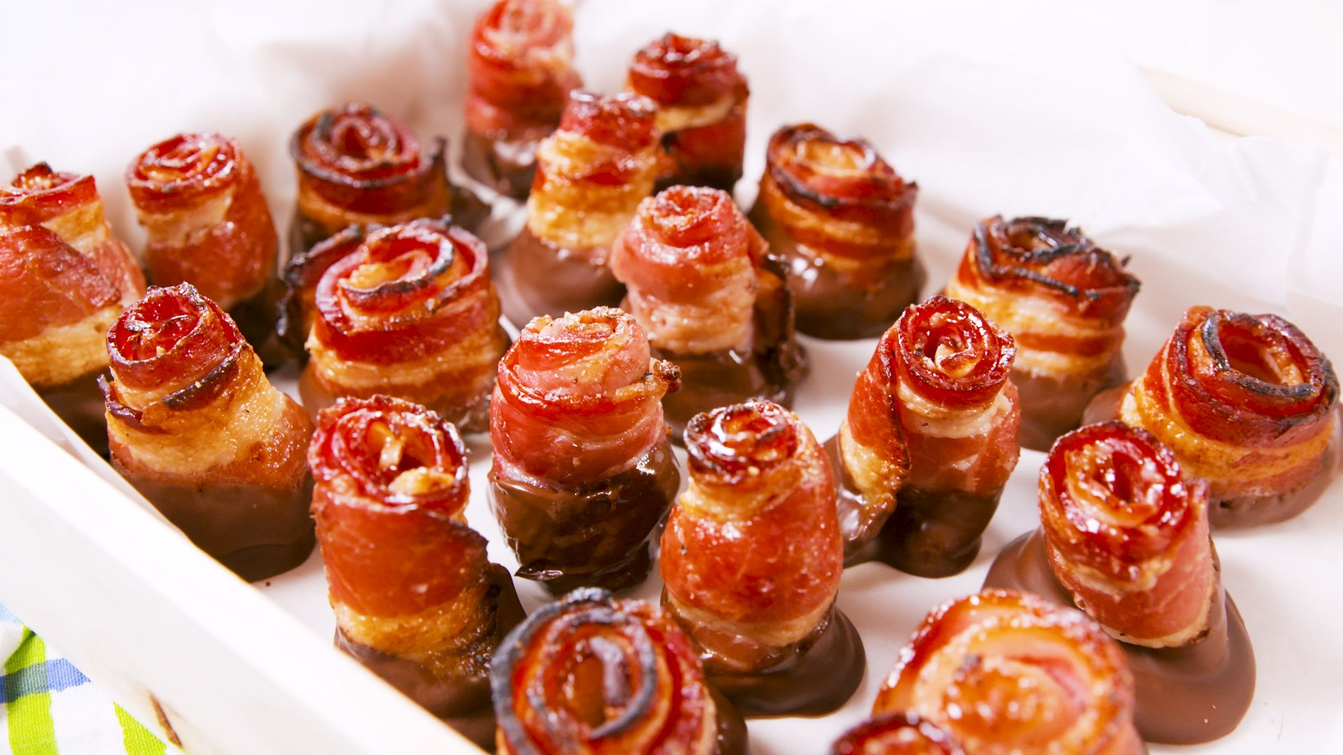 Bacon Chocolate Roses