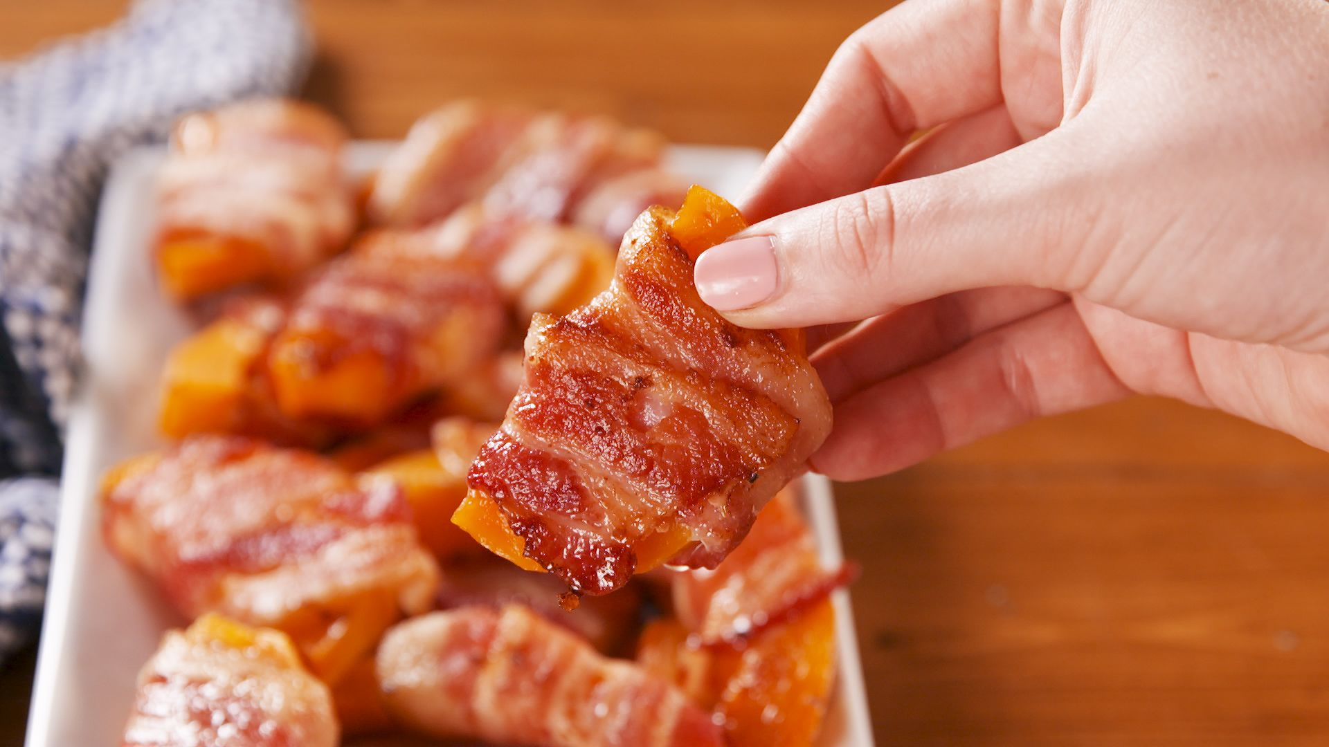 Bacon Wrapped Butternut Squash Fries