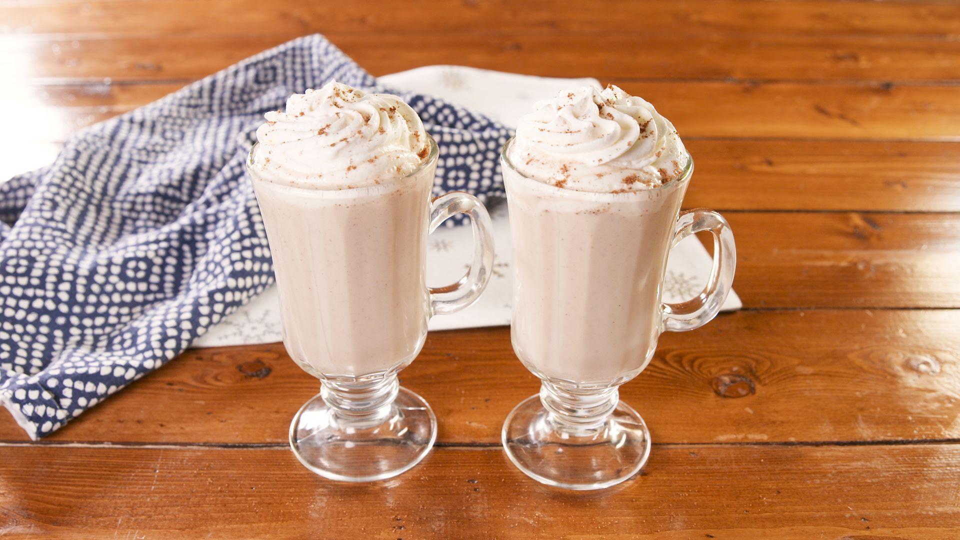 Boozy Eggnog Hot Chocolate