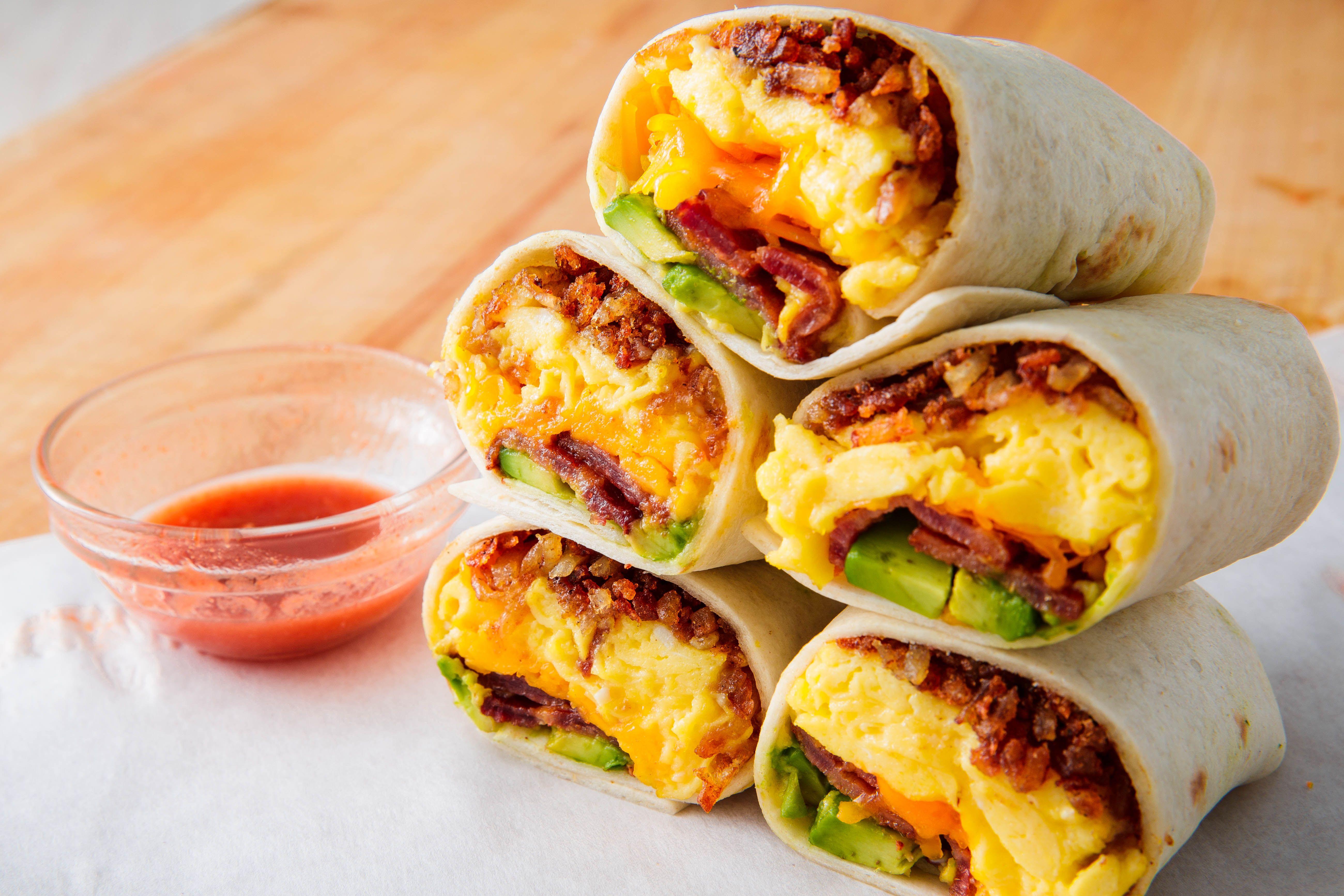 Cheesy Bacon Breakfast Burrito