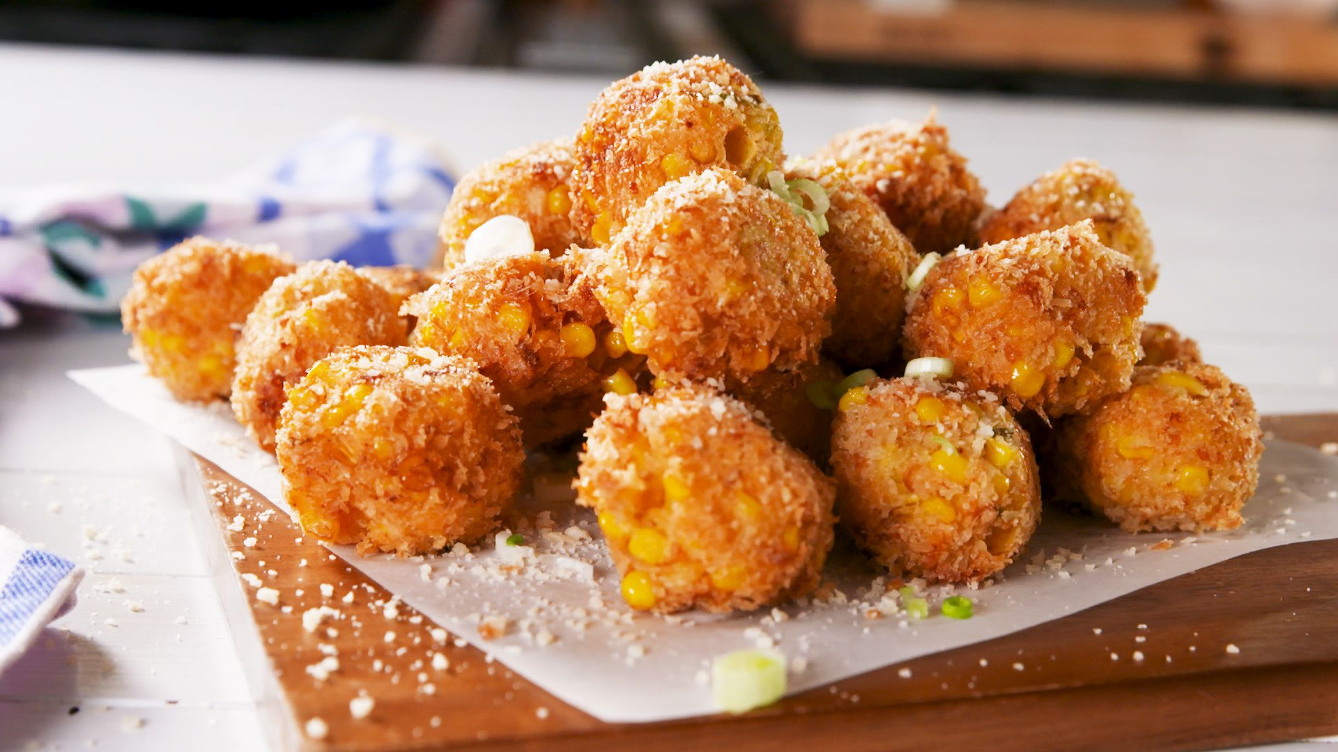 Cheesy Corn Poppers