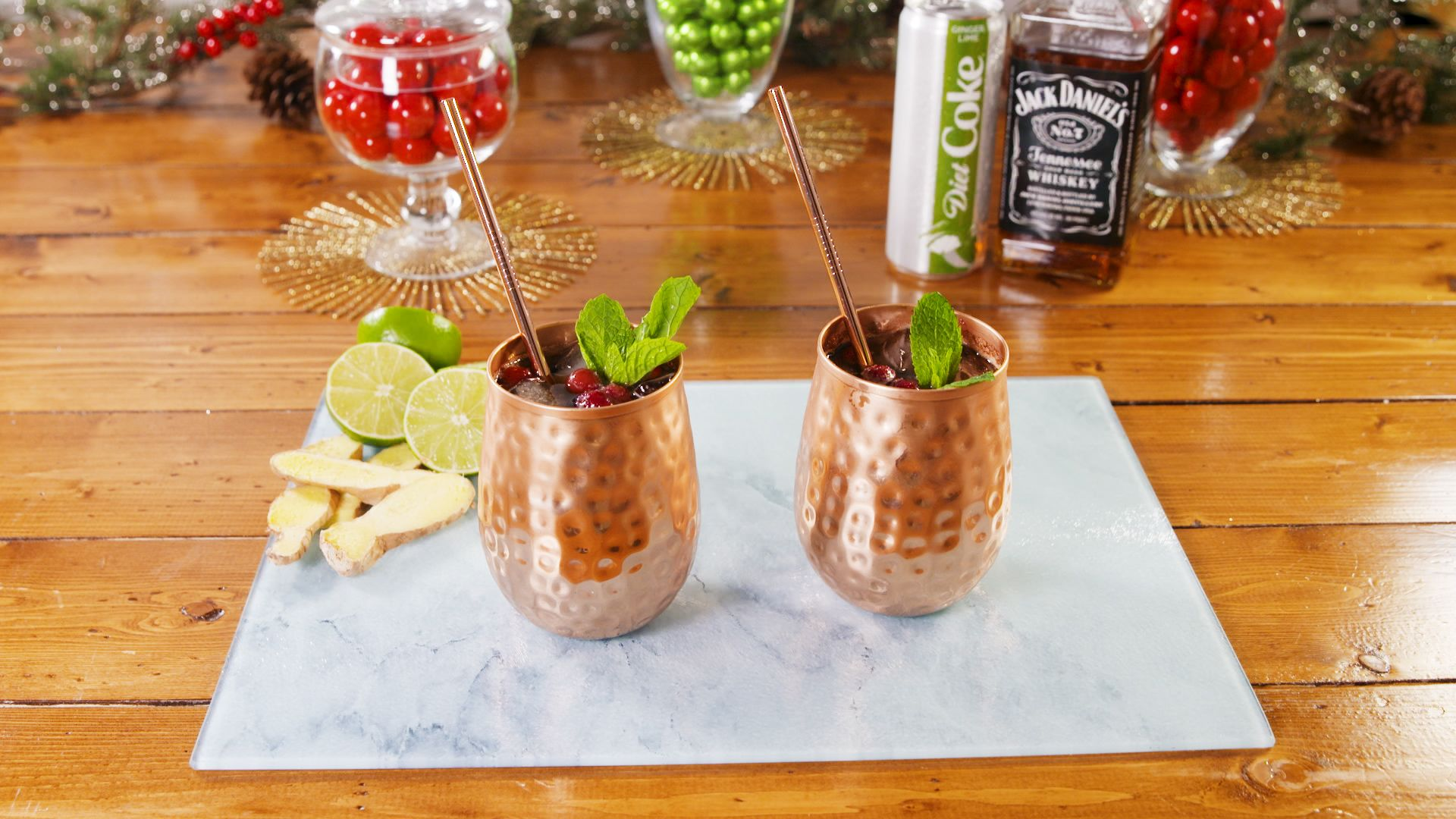 Yep, You're Going to Be Drinking Frozen Cranberry Ginger-Lime Mules *ALL* Winter Long