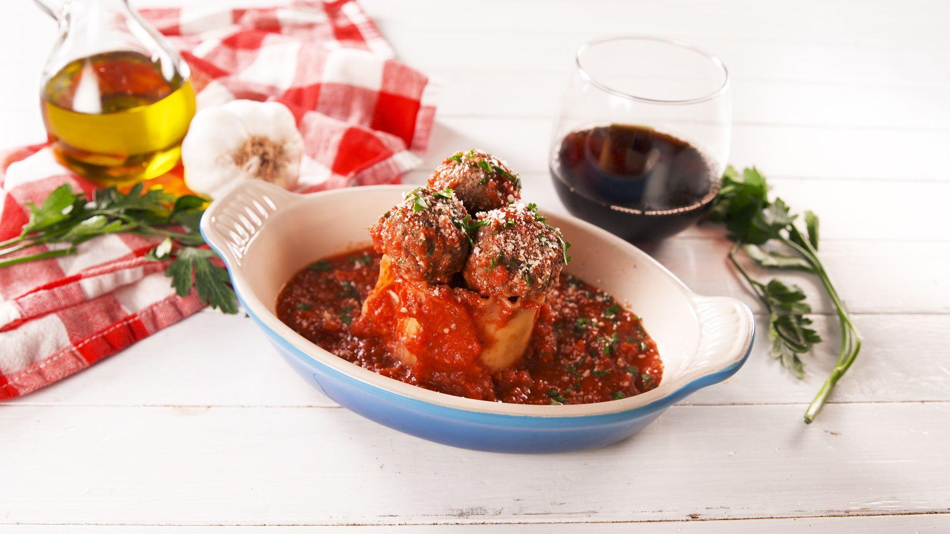 Meatball Lasagna Rollata