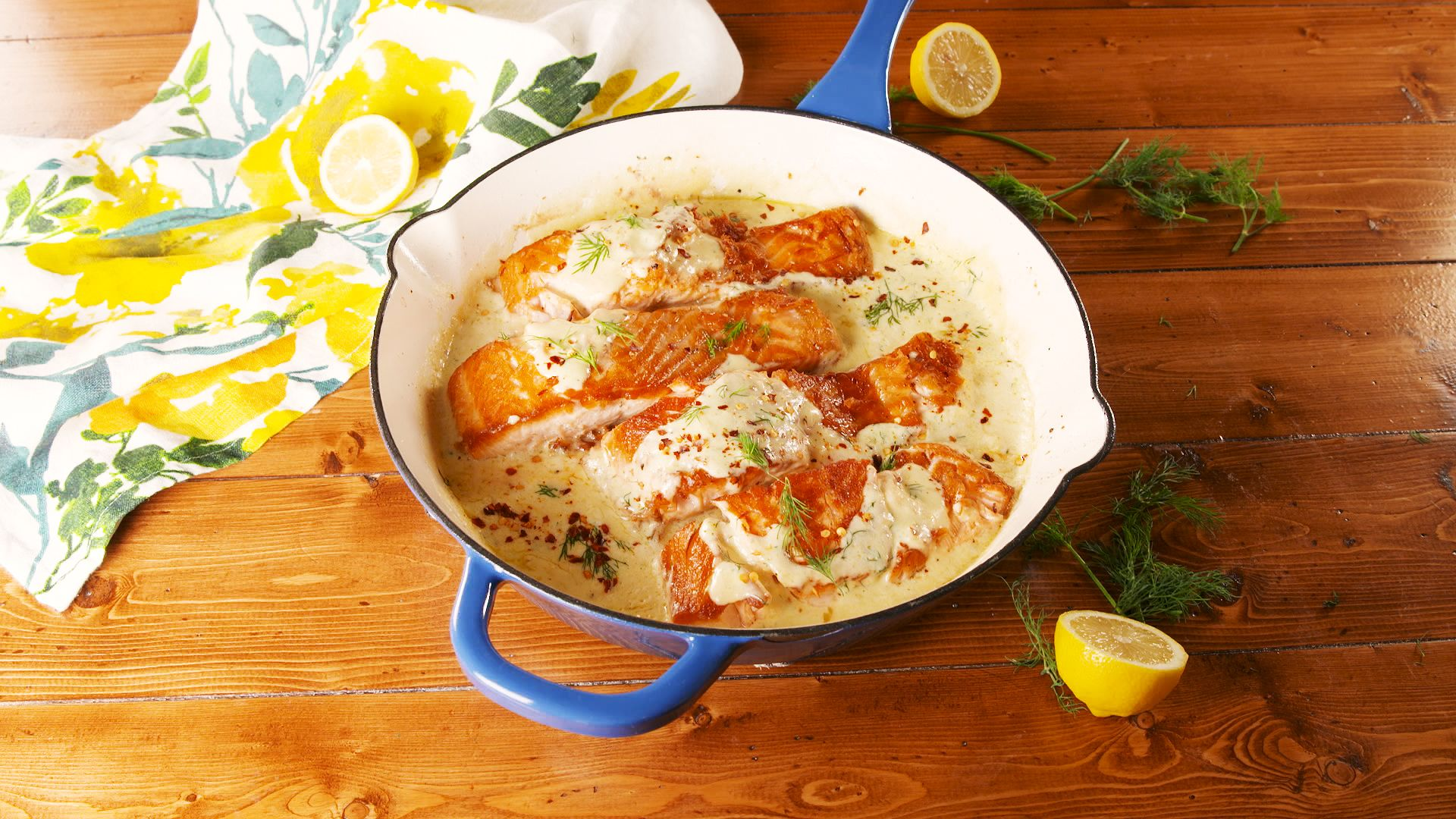 Creamy Lemon Garlic Salmon