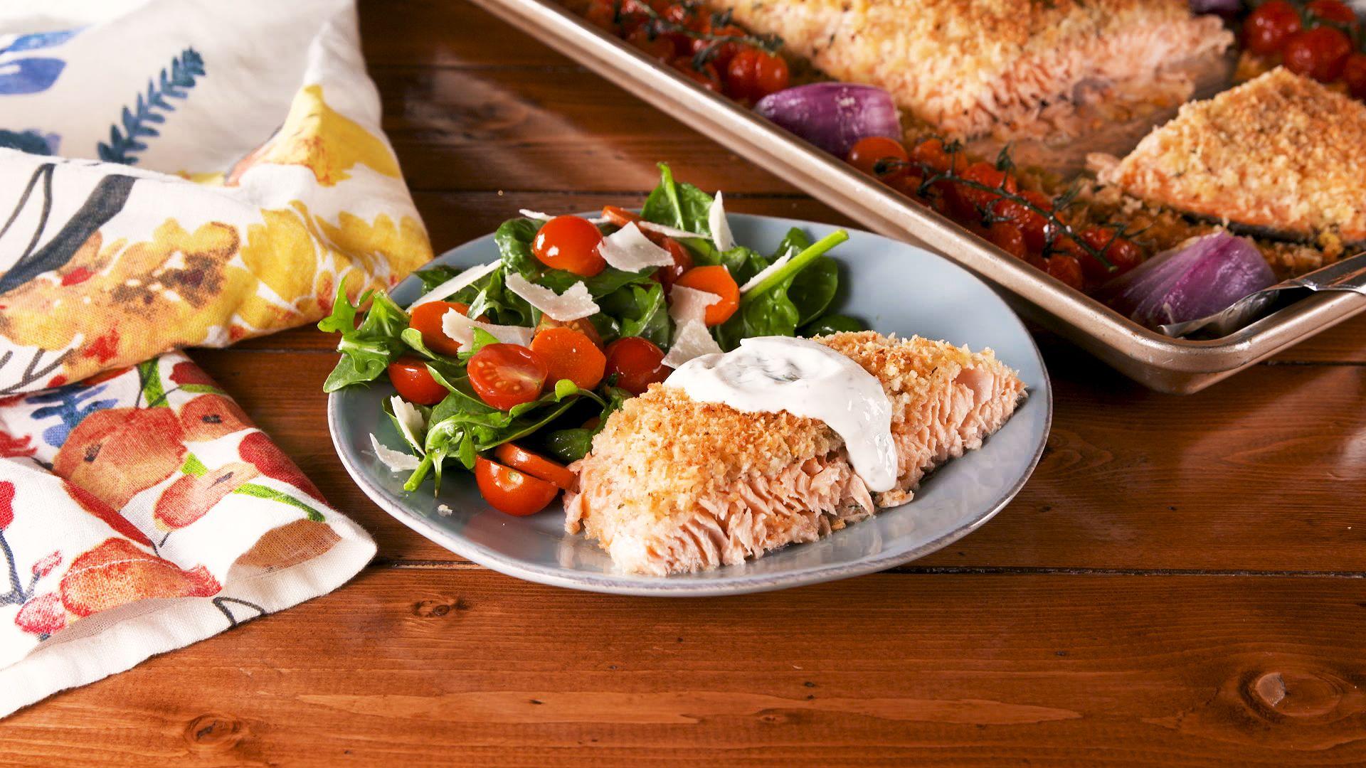 Breadcrumb Crusted Salmon