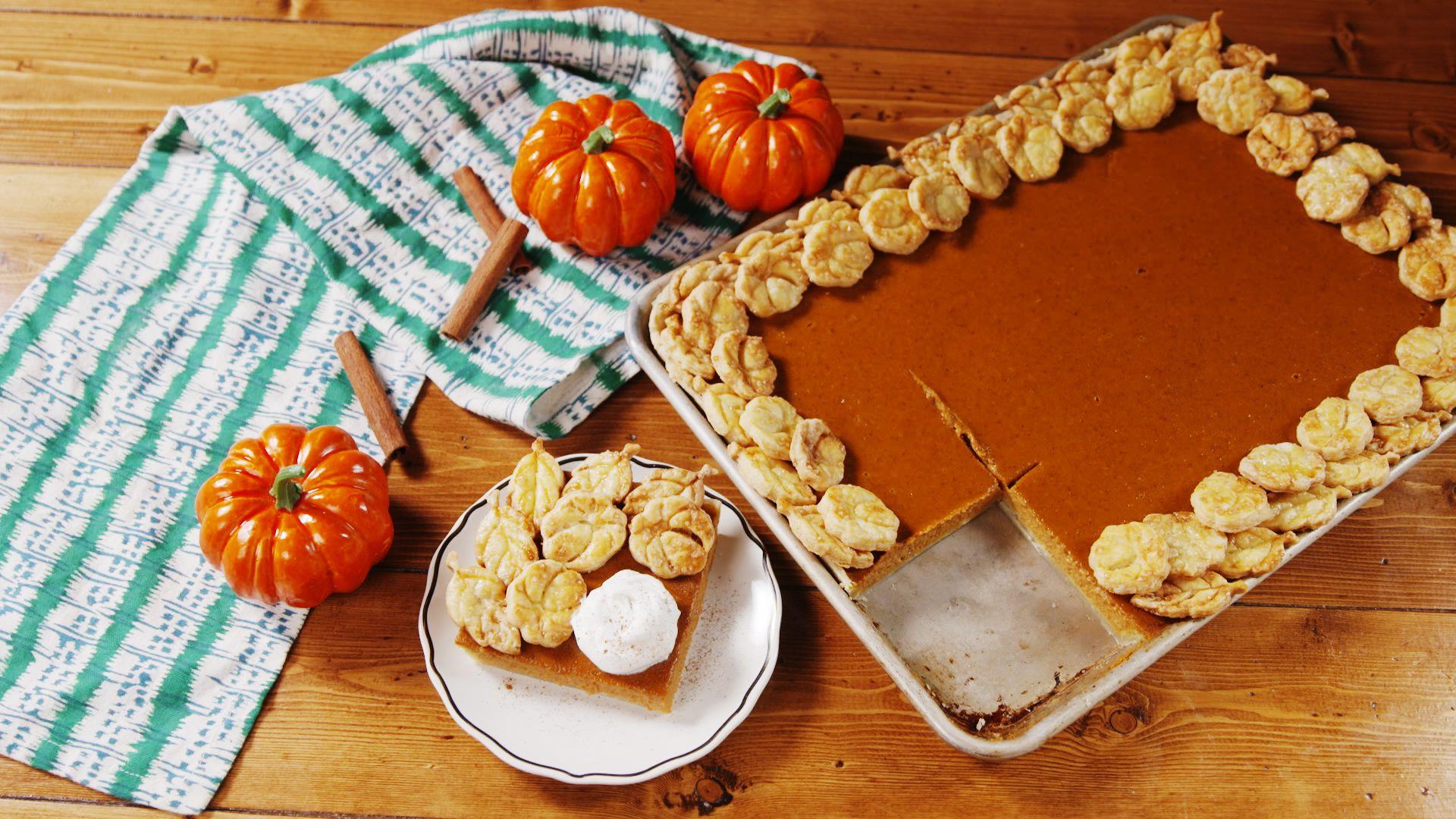 Sheet Pan Pumpkin Pie
