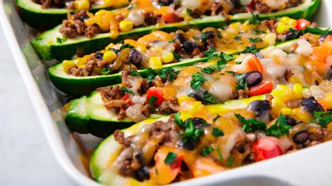 Best Zucchini Burrito Boats Recipe How To Make Zucchini Burrito Boats